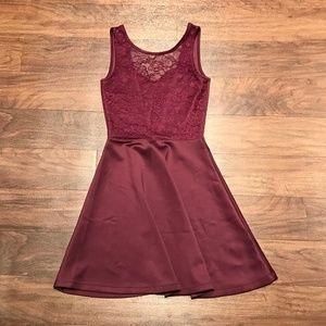 H&M open back scuba skater dress